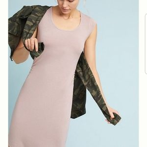 Anthro Mauve Madelyn Ruched Dress